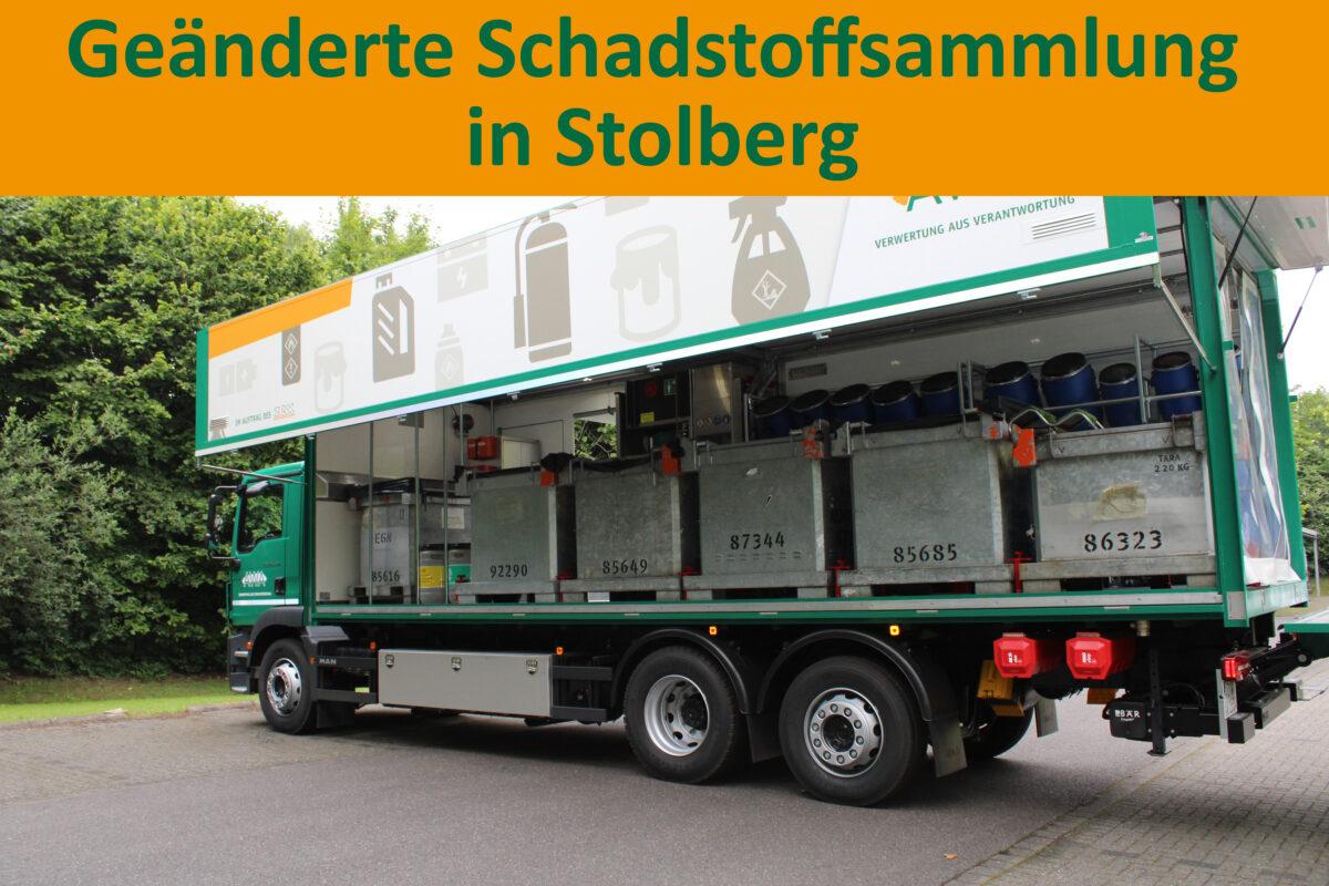 Geänderte Schadstoffsammlung in Stolberg